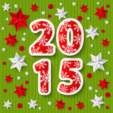 New Year 2015 concept with starry decorations Royalty Free Stock Photos