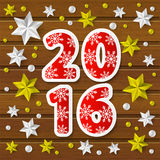 New Year 2016 concept. With starry decorations Vector Illustration