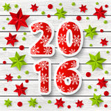 New Year 2016 concept. With starry decorations Stock Photos