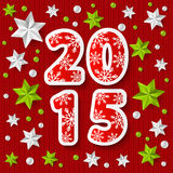 New Year 2015 concept with starry decorations Stock Image
