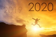 New Year 2020 concept. Text for 2020 new yea