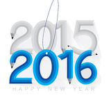 New year 2016. Concept vector Royalty Free Stock Photography