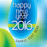 New year 2016. Concept vector illustration stock illustration