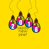 New year 2016. New year concept vector illustration royalty free illustration