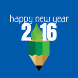 New year 2016. New year concept vector illustration Stock Photo