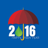 New year 2016. New year concept vector illustration stock illustration
