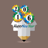 New year 2016. Concept vector illustration Stock Photography