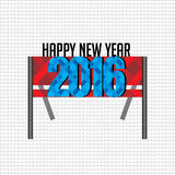 New year 2016. Concept vector illustration Royalty Free Stock Image