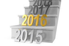 New Year 2016 concept. On white background Royalty Free Stock Images