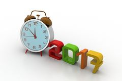 New year concept. In white background Royalty Free Stock Photos