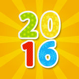 2016 New Year concept. For Your design Royalty Free Stock Images