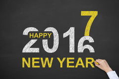 New Year Concepts 2017 on Blackboard Stock Image