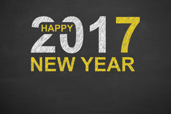 New Year Concepts 2017 on Blackboard Stock Images
