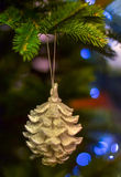 New Year cone. New Year  toy on the new year tree Stock Photos
