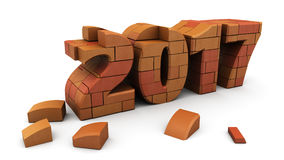 New year construction Stock Photography