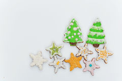 New year cookies Royalty Free Stock Photography