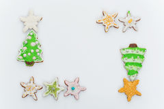 New year cookies Royalty Free Stock Photos