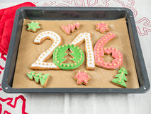2016 New Year cookies Royalty Free Stock Photo