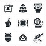 New year corporate  icons set Royalty Free Stock Images