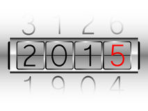 New Year Count Machine. EPS 10 Vector Stock Illustration