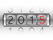 New Year Count Machine Stock Photo