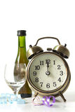 New Year countdown. Classic clock is ticking down to midnight celebration Royalty Free Stock Photos