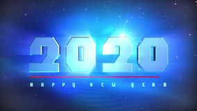 New Year 2020 Countdown Animation royalty free illustration