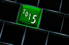 New year countdown 2015 Concept. With back lit keyboard Royalty Free Stock Images