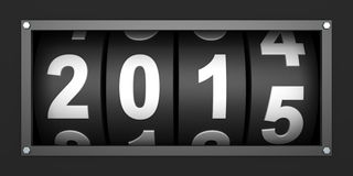2015 New year countdown timer. 3d render royalty free illustration
