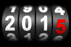 2015 New year countdown timer. 3d render stock illustration