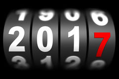 2017 New year countdown timer. 3d render Stock Photo