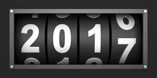 2017 New year countdown timer. 3d render Royalty Free Stock Photography