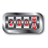New Year Countdown (Vector). New Year Greeting Card With Analog Counter Concept -Vector Art vector illustration