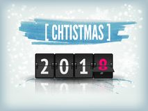 New Year countdown vector banner. Greeting card, poster Royalty Free Stock Photos