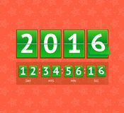 New Year Countdown. Vector. New Year Countdown on Green Boards. Vector illustration Royalty Free Stock Photos