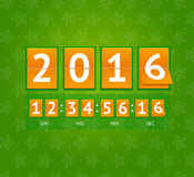 New Year Countdown. Vector. New Year Countdown on Orange Boards. Vector illustration Royalty Free Stock Photo