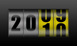 New year counter. Counter showing transition to new year stock illustration