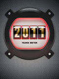 New Year counter. Stylized counter of new years. Made in 3D Royalty Free Stock Images