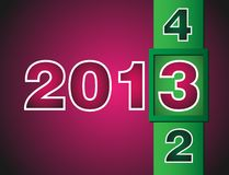 New Year counter 2012-2013 Royalty Free Stock Image