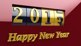 New Year Counter 2013 Royalty Free Stock Image