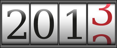 New year counter. A new year 2013 counter. Vector Royalty Free Stock Photo