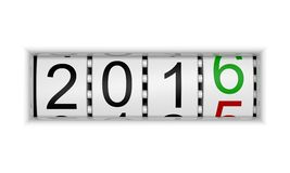 New Year 2016. Counter for New Year 2016 Royalty Free Stock Photos