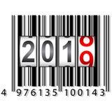 2019 New Year counter a barcode calendar illustration.  stock illustration