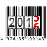 2016 New Year counter, barcode, vector Stock Image