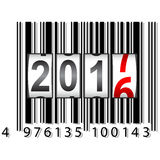 New Year 2017 counter, barcode, vector illustration. Royalty Free Stock Photography