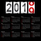 2019 New Year counter a change calendar illustration.  stock illustration