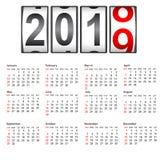 2019 New Year counter a change calendar illustration.  vector illustration
