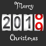 2019 New Year counter Christmas congratulation Black background.  stock illustration