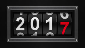 New year 2017 counter  3 Royalty Free Stock Images