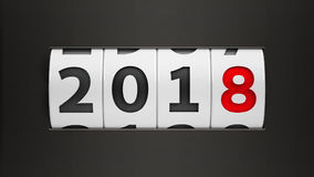 New year 2018 counter  2 Royalty Free Stock Photography